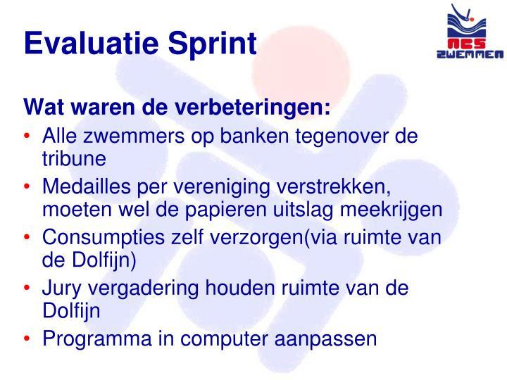 Evaluatie Sprint