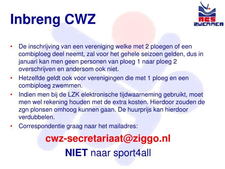 Inbreng CWZ