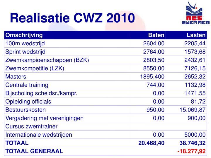 Realisatie CWZ 2010