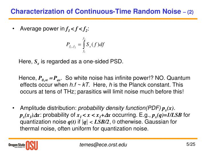 Characterization of Continuous-Time Random Noise