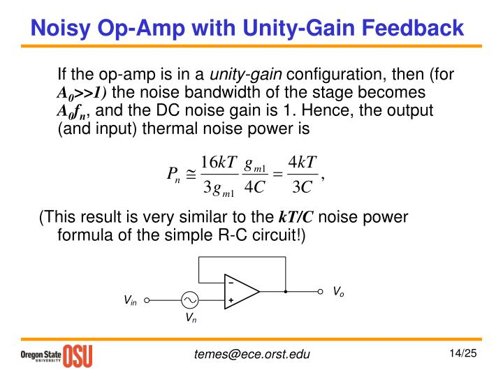Noisy Op-Amp with Unity-Gain Feedback