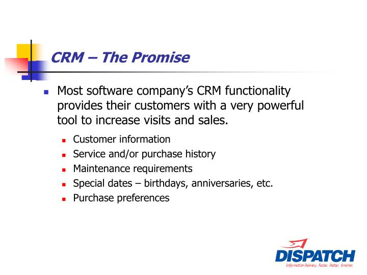 Crm the promise