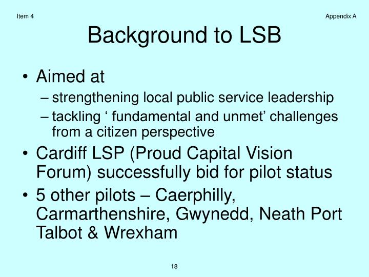 Background to lsb