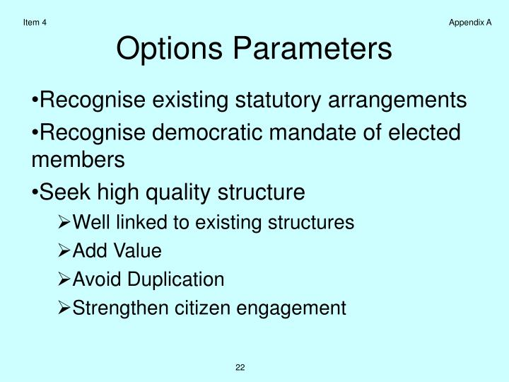 Recognise existing statutory arrangements