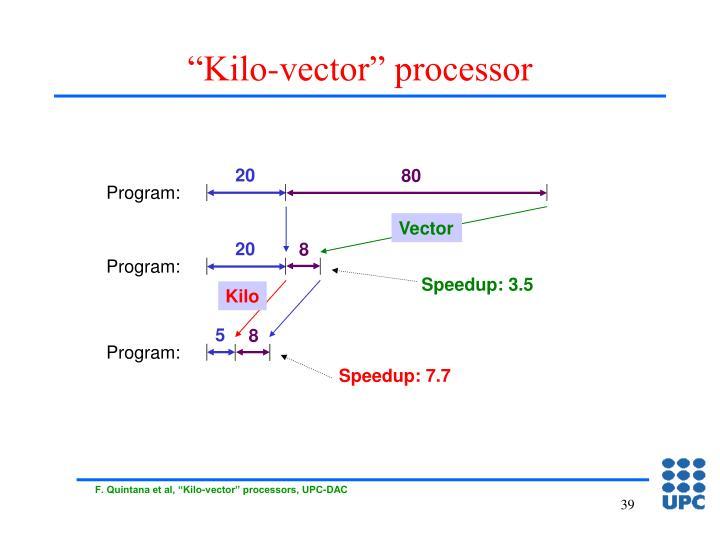 """""""Kilo-vector"""" processor"""