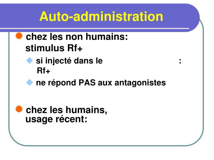 Auto-administration