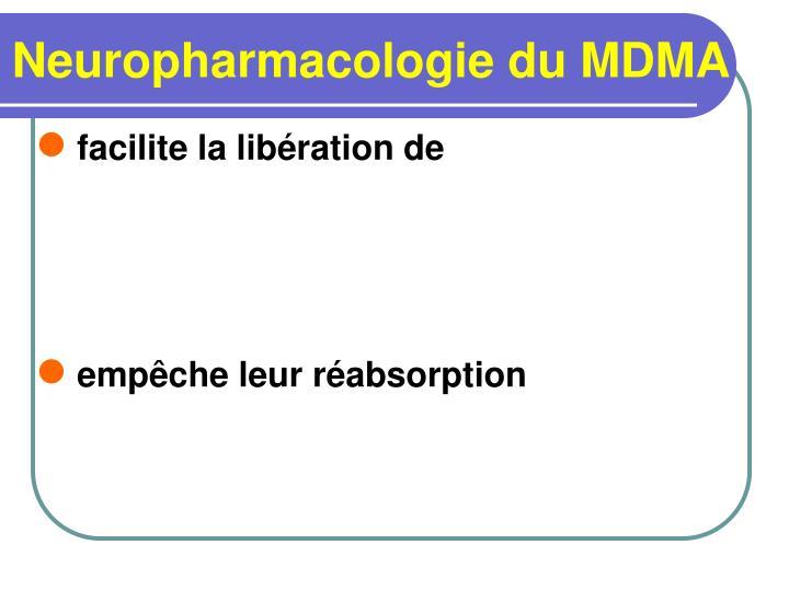 Neuropharmacologie du MDMA