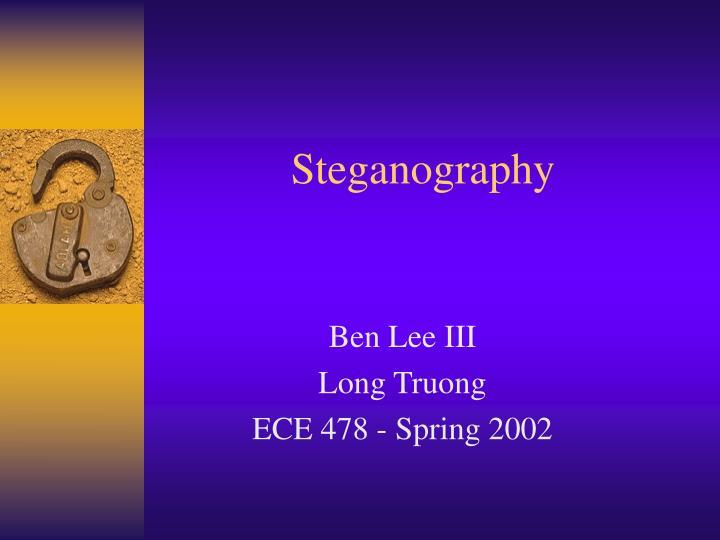 steganography n.