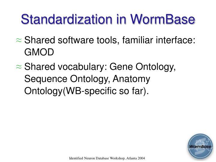 Standardization in WormBase