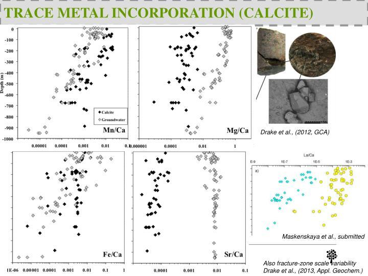 TRACE METAL INCORPORATION (CALCITE)