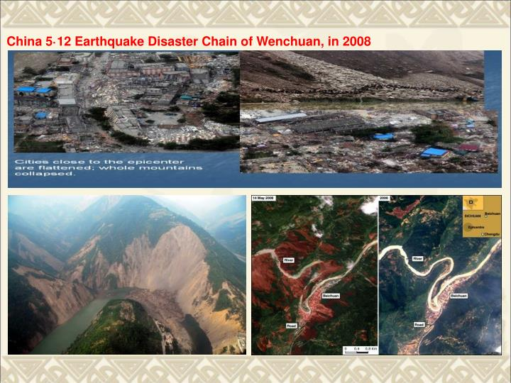 China 5·12 Earthquake Disaster Chain of Wenchuan, in 2008