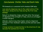 conclusions stellar halo and dark halo