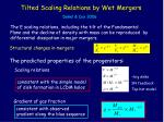 tilted scaling relations by wet mergers