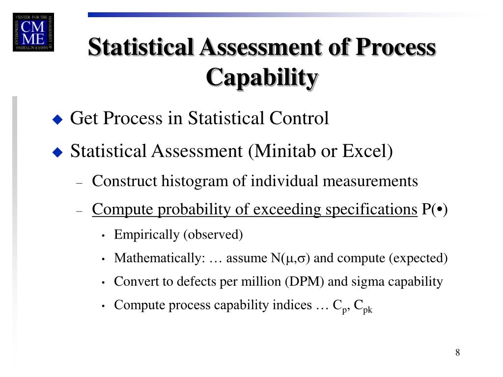 PPT - Process Capability Assessment PowerPoint Presentation - ID:3330986