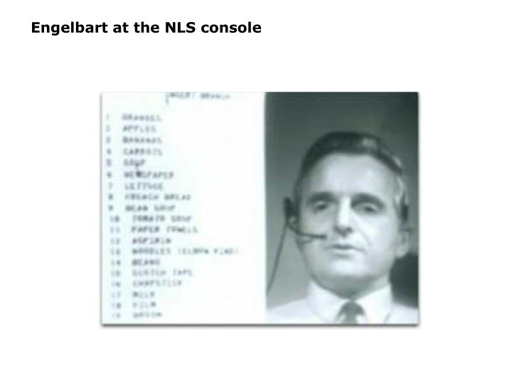 Engelbart at the NLS console