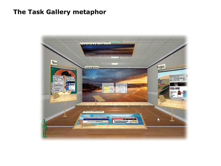 The Task Gallery metaphor