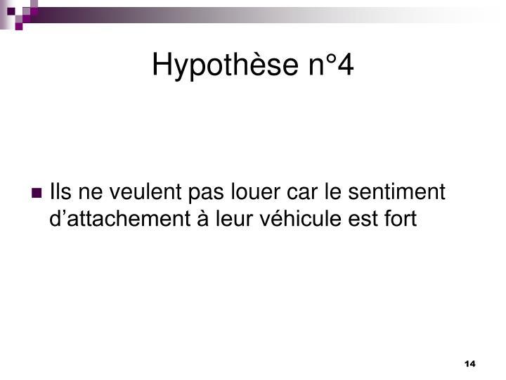 Hypothèse n°4
