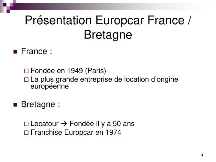 Pr sentation europcar france bretagne