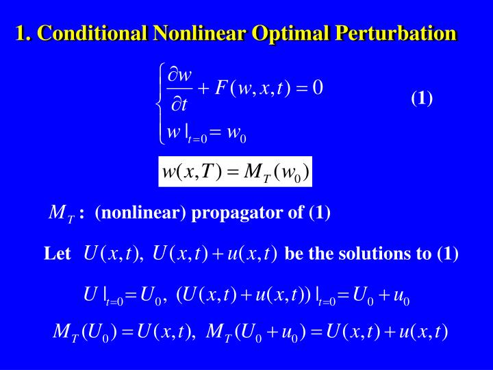 :  (nonlinear) propagator of (1)
