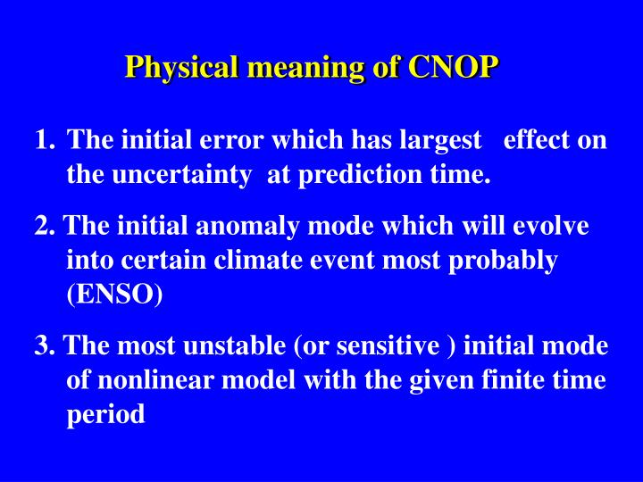 Physical meaning of CNOP