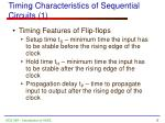 timing characteristics of sequential circuits 1
