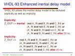 vhdl 93 enhanced inertial delay model