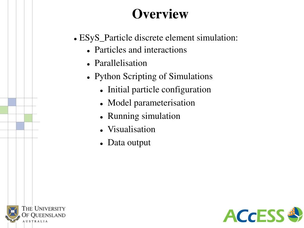 PPT - Scripting Parallel Discrete Element Simulations with
