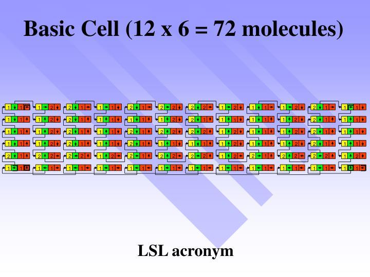 Basic Cell (12 x 6 = 72 molecules)