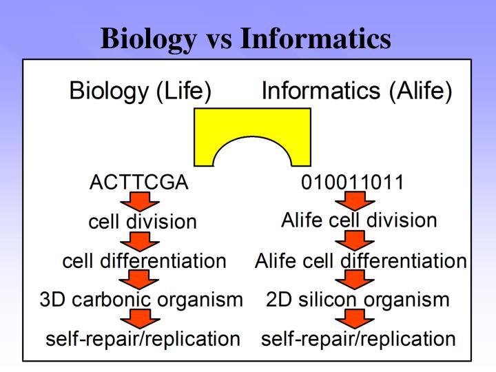 Biology vs informatics