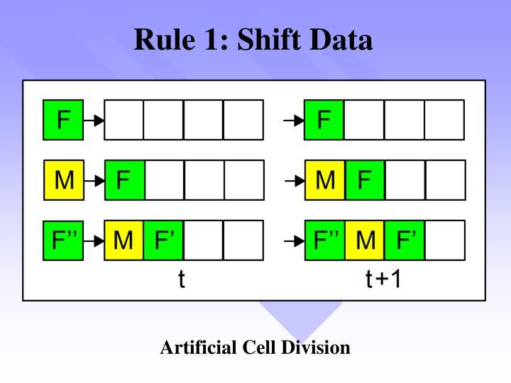 Rule 1: Shift Data