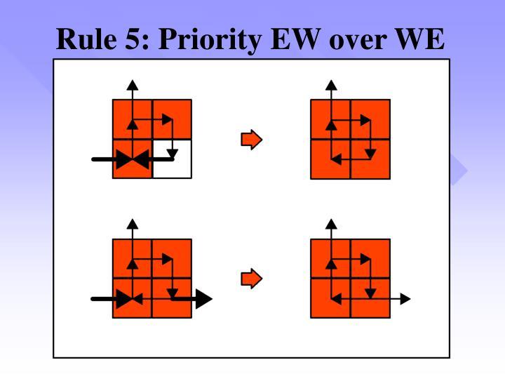 Rule 5: Priority EW over WE