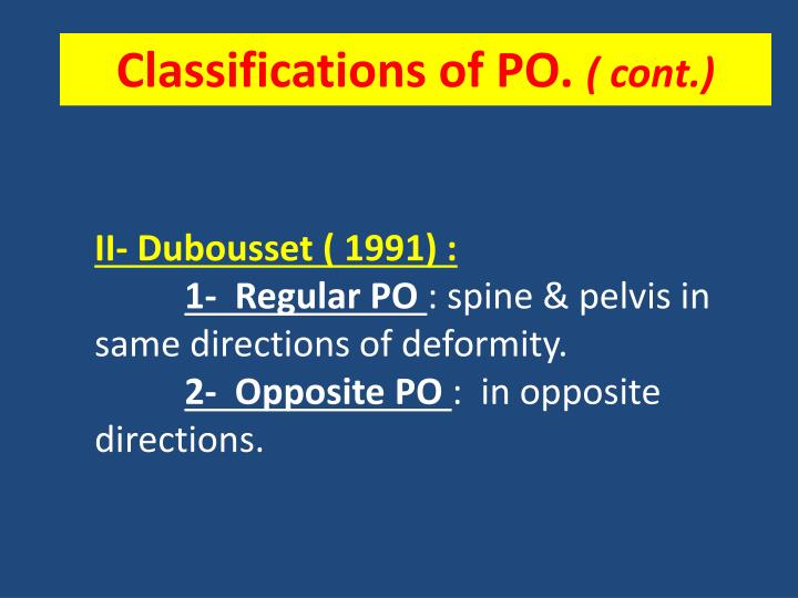 Classifications of PO.