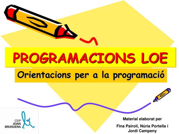 Programacions loe