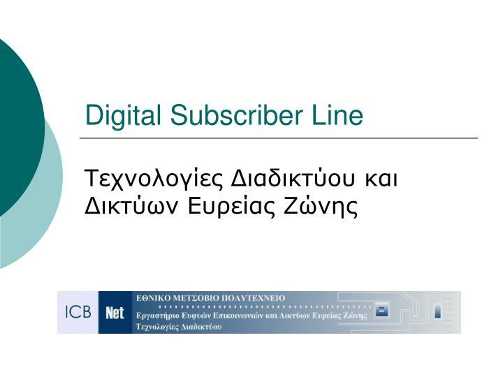 digital subscriber line n.