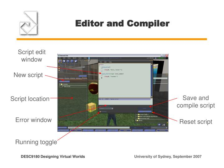 Editor and Compiler