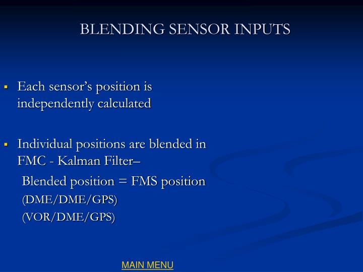 Each sensor's position is independently calculated