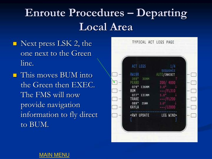 Enroute Procedures – Departing Local Area