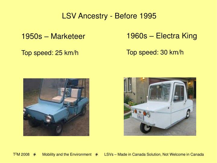 LSV Ancestry - Before 1995