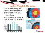 modernmusclex schedule