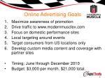 online advertising goals