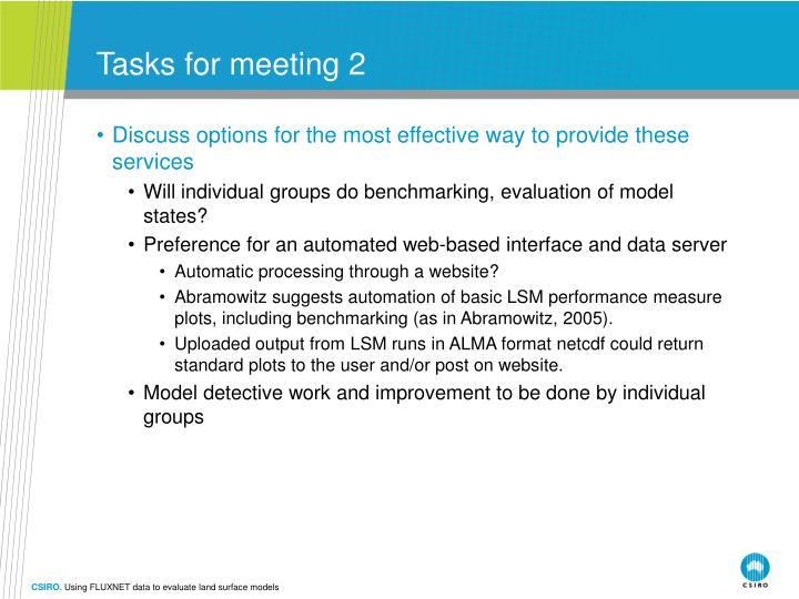 Tasks for meeting 2
