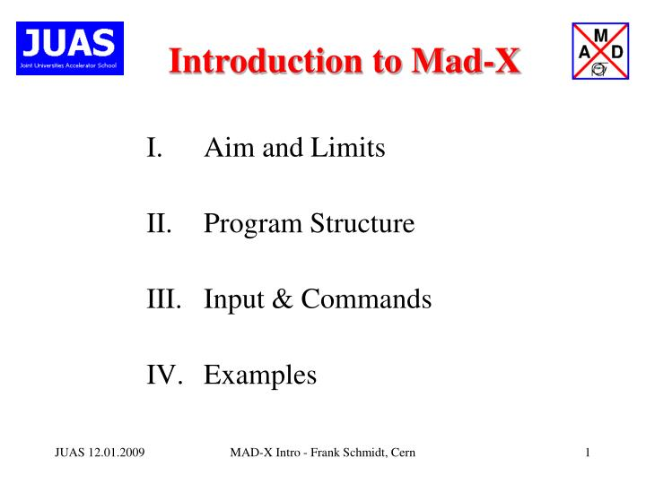 introduction to mad x n.
