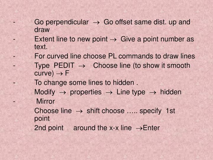 -Go perpendicular