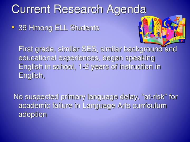 Current Research Agenda