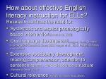 how about effective english literacy instruction for ells