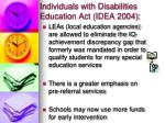 individuals with disabilities education act idea 2004