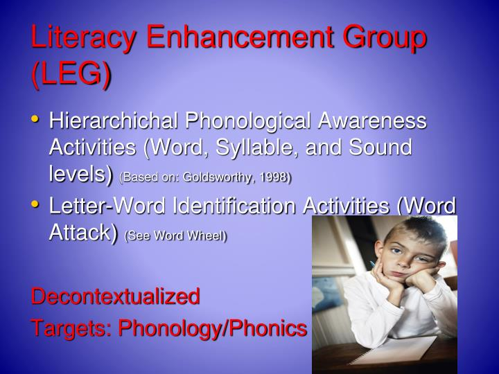 Literacy Enhancement Group (LEG)