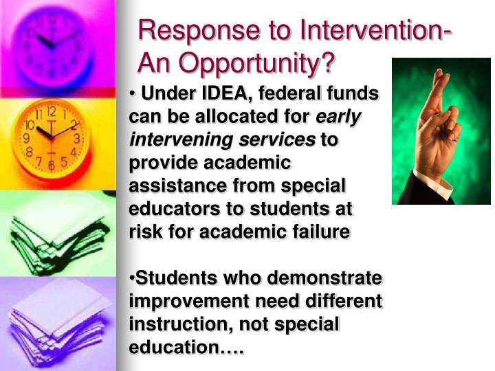 Response to Intervention-An Opportunity?