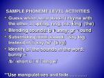 sample phoneme level activities