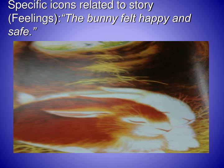 Specific icons related to story (Feelings):
